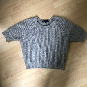 French Connection ribbed wool speckle sweater